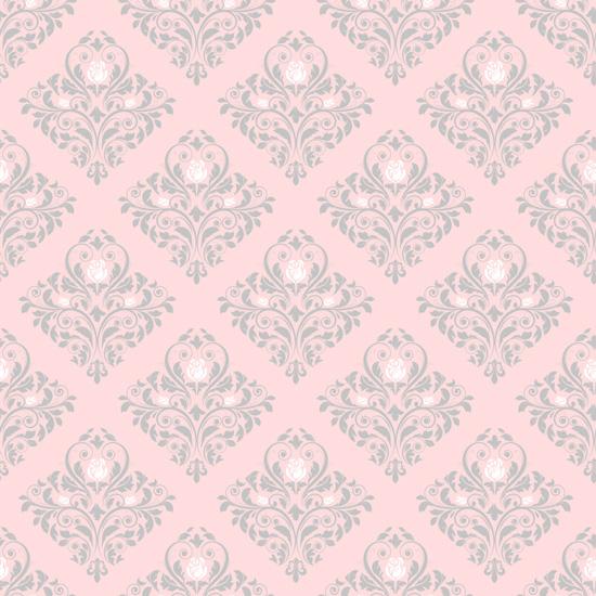 Хлопок Перкаль Орнамент на розовом 50х37