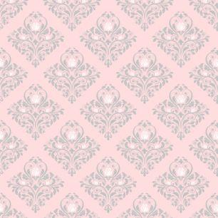 Хлопок Перкаль Орнамент на розовом 50х40