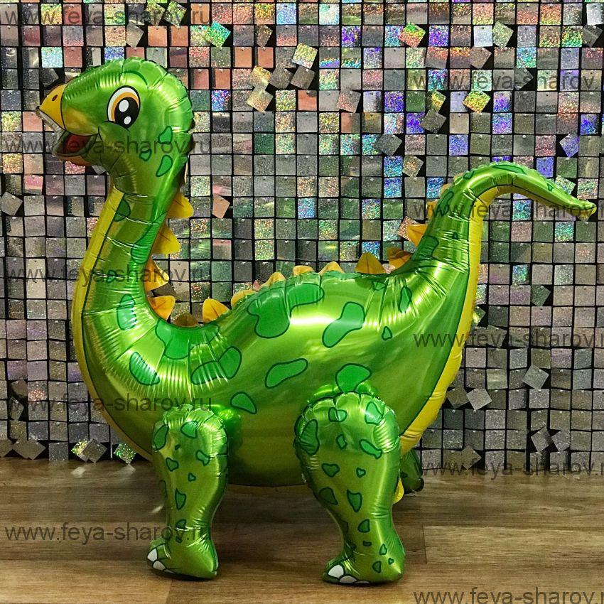 Шар Динозавр Стегозавр 99 см Зеленый