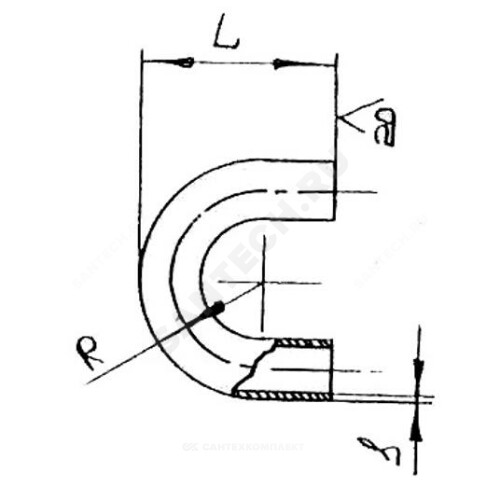 Отвод ст п/привар калач Ду15 (Дн21,3х2,8) 180гр из труб по ГОСТ 3262-75 КАЗ