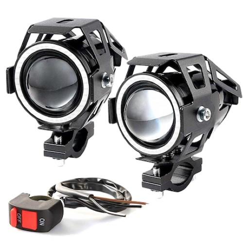 Фары линзовые светодиодные для электросамоката 12В 15Вт Входное напряжение: 12 В-80 В DC
