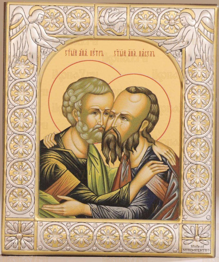 Икона Петр и Павел апостолы (9х10,5см)