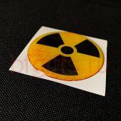 Объемная наклейка Радиация
