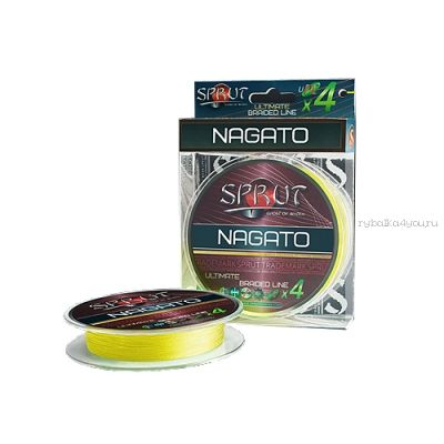 Шнур плетеный Sprut Nagato Hard Ultimate Braided Line x4 95 м / цвет: Fluo Yellow