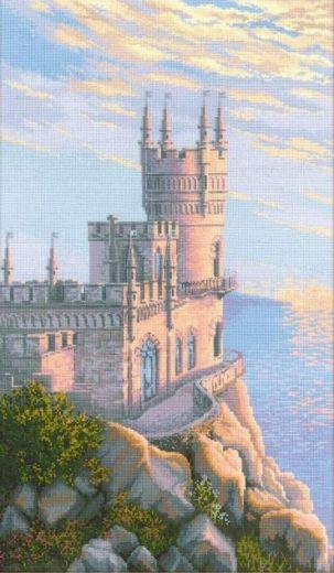 Набор для вышивания крестом Ласточкино гнездо № 1645 фирма Риолис