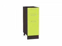 Шкаф нижний с 3-мя ящиками Валерия Н303 в цвете лайм глянец