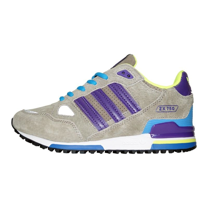 Кроссовки Adidas ZX 750 Grey Purple Blue