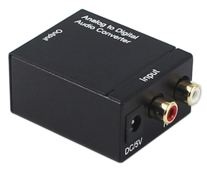 АЦП Analog to Digital Audio Converter (RCA L/R to Toslink+Coaxial)
