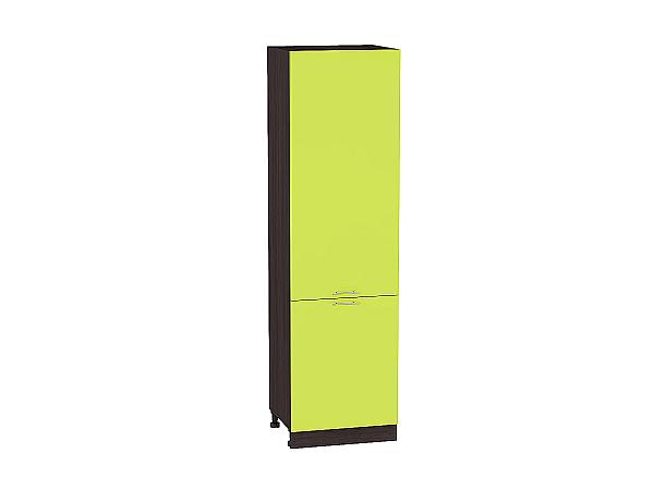 Шкаф пенал с 2-мя дверцами Валерия ШП600 (лайм глянец)