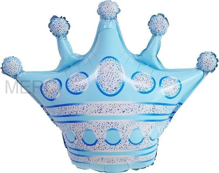 "Шар фигура "" Корона"", голубой"