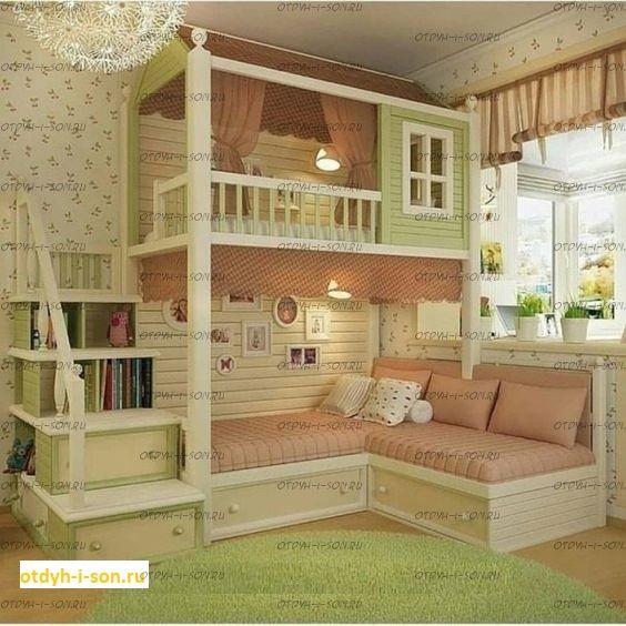 Двухъярусная кровать домик Wood Fantasy №21