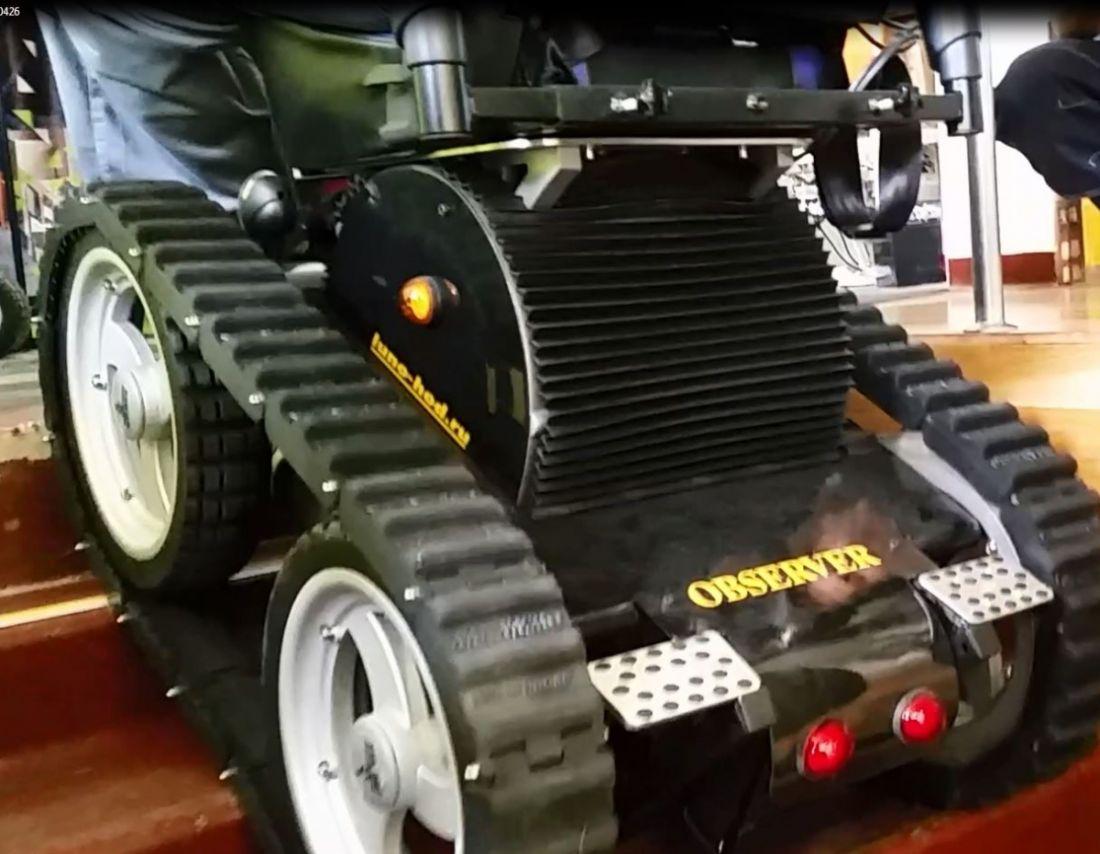 Гусеница резиновая накидная для Observer Maximus на PU колёсах из 18 траков