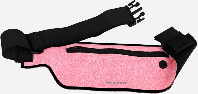 Спортивный чехол на пояс Momax XFIT Fitness Belt (SR2) для смартфона (Pink)