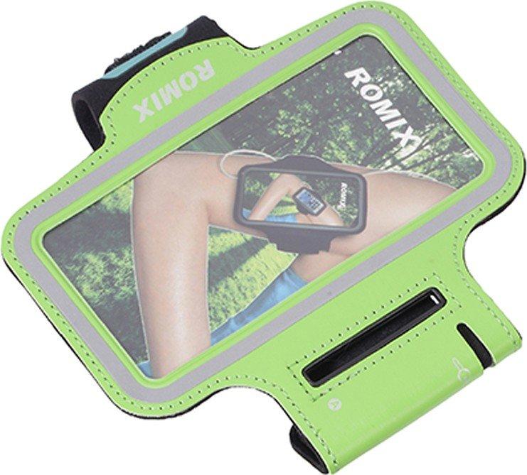"Спортивный чехол для смартфона Romix Arm Belt (RH07-5.5) для смартфона 5.5"" (Green)"