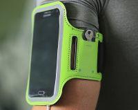 "Чехол спортивный на руку Baseus Flexible Wristband (CWYD-A06) для смартфонов 5"" (Black/Green) фото2"