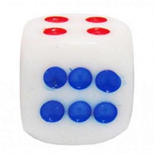 Кости (кубики, зары) пластиковые G205 белые 1,4см