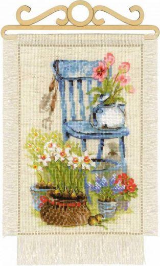 Набор для вышивания крестом Дача. Весна №1656 фирма Риолис