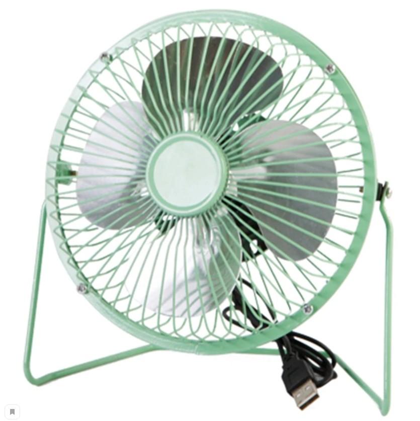 Настольный металлический USB-вентилятор Mini Fan, цвет Зеленый