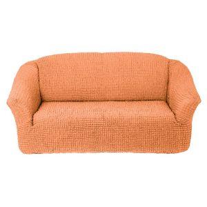 Чехол на 3х-местный диван без оборки,коралловый