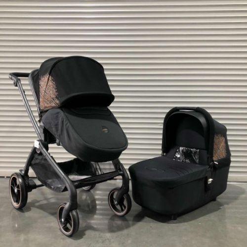 Модульная коляска Luxmom K-92 Черный текстиль