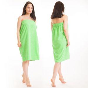 Килт(юбка) женский махровый, 80х150+-2, цвет зелёный