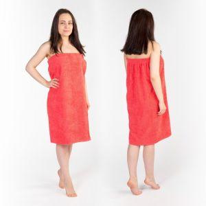 Килт(юбка) женский махровый, 80х150+-2, цвет коралловый