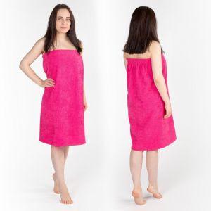 Килт(юбка) женский махровый, 80х150+-2, цвет малина