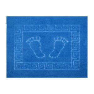 Коврик для ног прорезиненный, размер 50х70 см, цвет голубой, нано-микрофибра