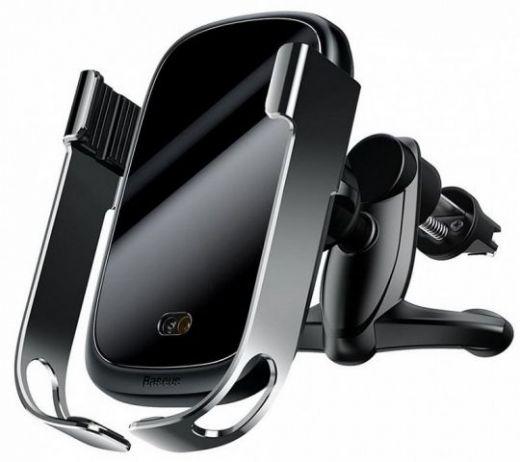 Автомобильный держатель с беспроводной зарядкой Baseus Rock-solid Vehicle Mounted Holder Wireless charger