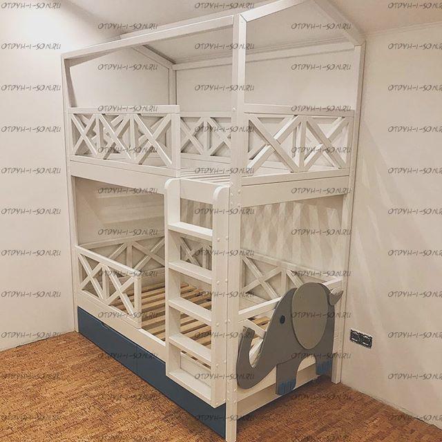 Кровать двухъярусная Домик Standard №9