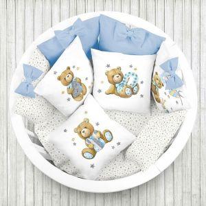 Комплект в кроватку Бэби бой, 6 предметов, перкаль, хл100%   4644770