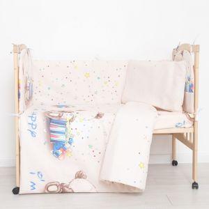 К-т в кровать Счастливчик 6пр.,цвет бежевый,  бязь/аэрофайбер, 120г/м, хл100%   4351750