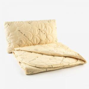 """Набор """"Верблюжья шерсть"""" в п/э, одеяло размер 110х140 см, 150гр/м2 + подушка 40х60 см   4313329"""