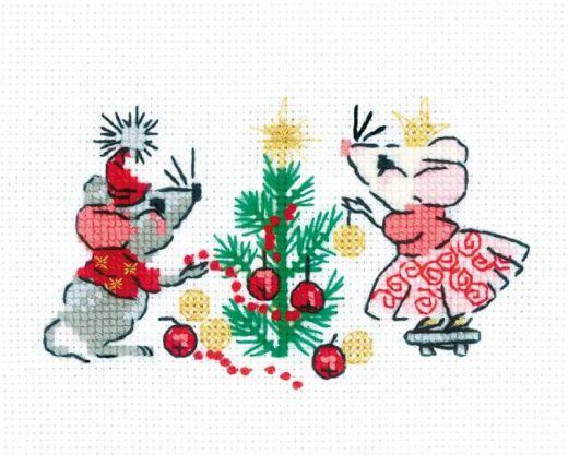 Набор для вышивания крестом Ожидание праздника №1823 фирма Риолис