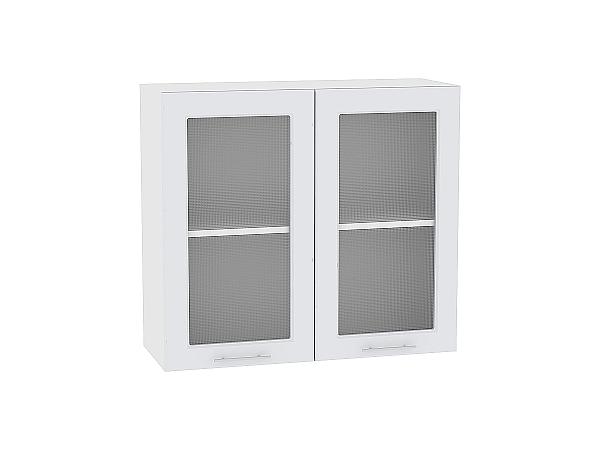 Шкаф верхний Ницца Royal В800 со стеклом (Blanco)