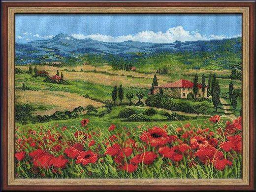 Набор для вышивания крестом Тоскана 100/001 фирма Риолис