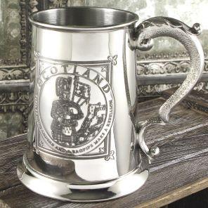 Кельтский Танкард (объём. 1 пинта)  Волынщик из Хайлендз 1 Pint Highland Piper Tankard