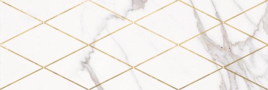 1664-0141 Настенная плитка декор Миланезе Дизайн 20х60 римский каррара