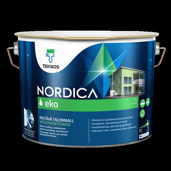 Краска для домов НОРДИКА ЭКО PM3 глянцевая 9л.