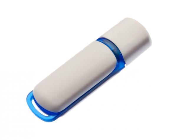 2GB USB-флэш накопитель UsbSouvenir 235, белая-синяя