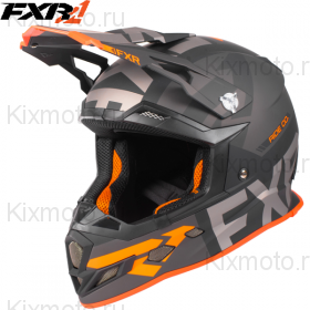 Шлем FXR Boost Evo - Black Charcoal