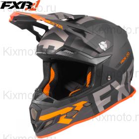 Шлем FXR Boost Evo, с подогревом - Black/Charcoal