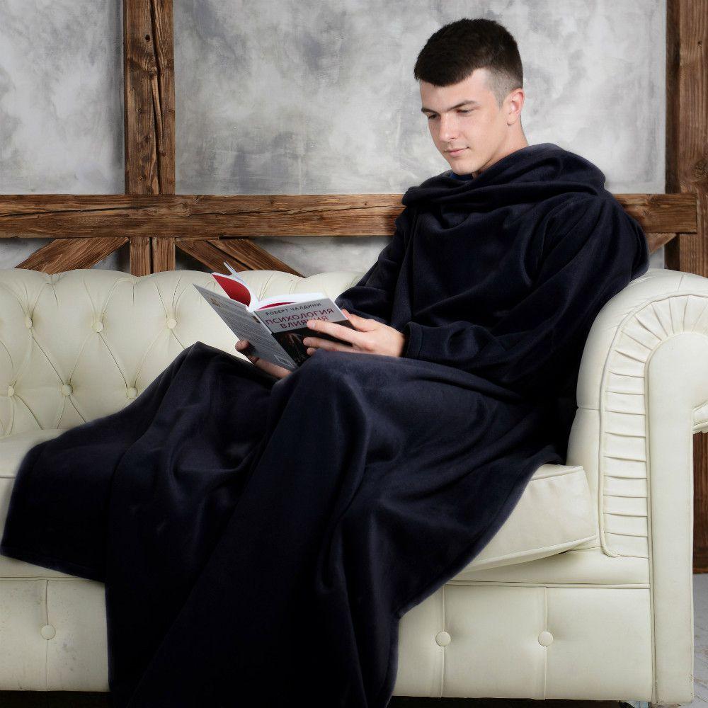 Одеяло-Плед С Рукавами Snuggie (Снагги), Цвет Черный