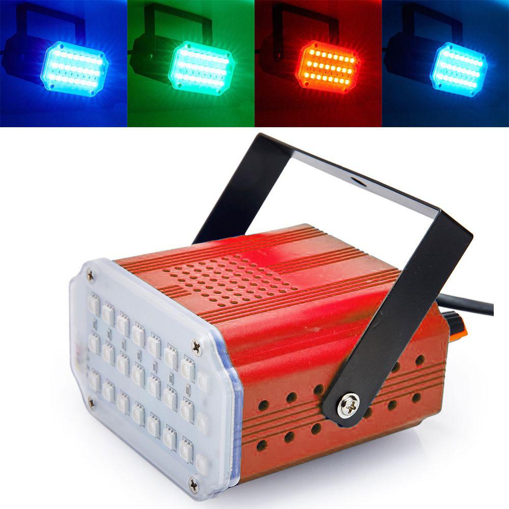 Комнатный Мини-Стробоскоп Mini Room Strobe 24 LED, Цвет Красный