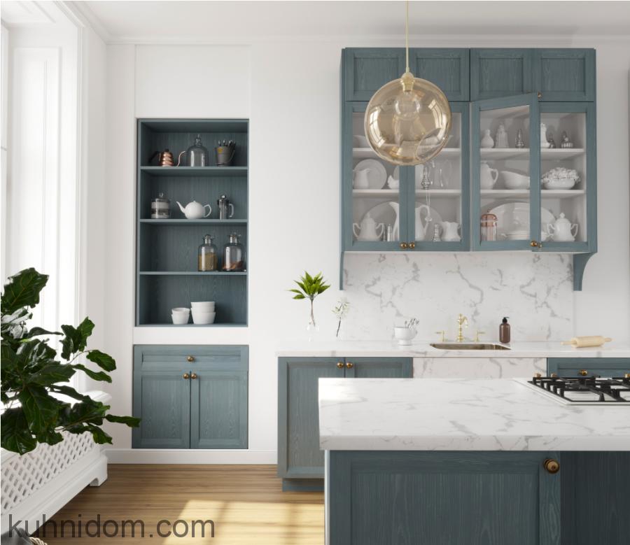 Кухня Afina Veneer Голубая