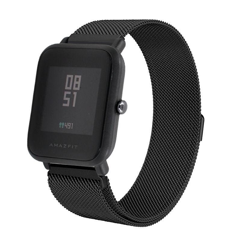 Сменный металлический ремешок для Умных часов  Amazfit Bip Smartwatch (Черный)