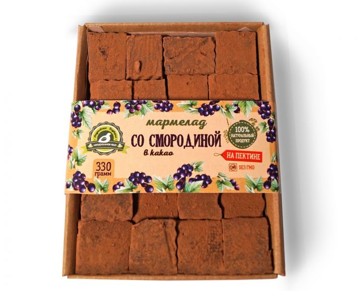 Мармелад со смородиной в какао, 330 гр.