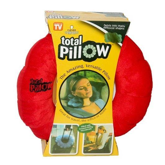 Подушка-Трансформер Для Путешествий Total Pillow (Тотал Пиллоу), Цвет Красный
