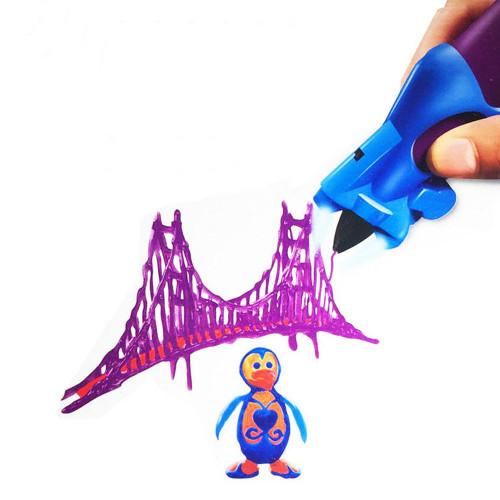 3D Ручка Creative Drawing Pen, Цвет Фиолетовый