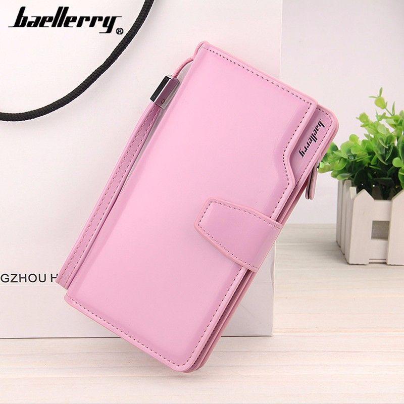 Кошелёк Woman Baellerry Wallet Pu Clutch Bag, Цвет Розовый